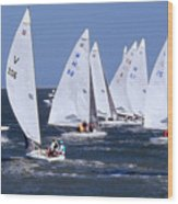 Sailboat Championship Racing Wood Print