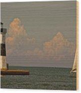 Sailing Away Wood Print