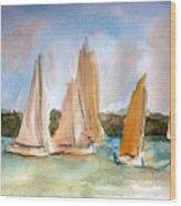 Sailing  Wood Print by Julie Lueders