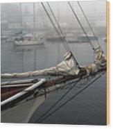 Sailing On Hold Wood Print