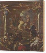 Saint Anthony Of Padua Restores The Foot Of A Man Wood Print