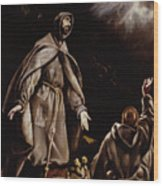 Saint Francis In Ecstasy Wood Print