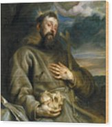 Saint Francis Of Assisi In Ecstasy Wood Print