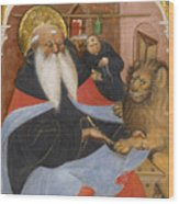 Saint Jerome Extracting A Thorn From A Lion's Paw Wood Print