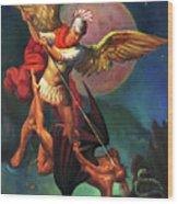 Saint Michael The Warrior Archangel Wood Print
