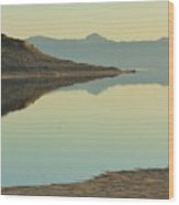 Salt Lake Reflections 3 Wood Print