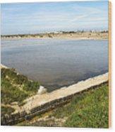 Salt Marshes - Trapani Salt Flats Wood Print