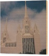 #1 San Diego Temple Wood Print