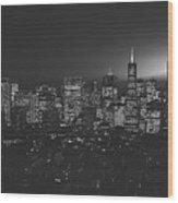 San Francisco At Sunset Wood Print