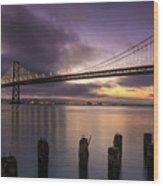 San Francisco Bay Bridge Wood Print