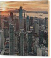 San Francisco Financial District Skyline Wood Print