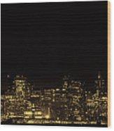 San Francisco Nighttime Skyline Wood Print
