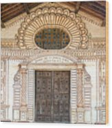 San Javier Church Facade Wood Print