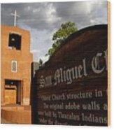 San Miguel Mission Church Wood Print