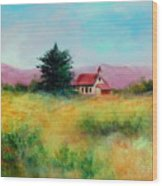 San Simeon School House Wood Print