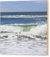 Sand And Sea 1 Wood Print