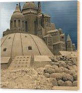 Sand Castle Wood Print