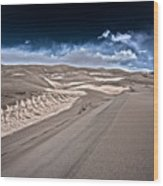 Sand Dunes Of Colorado Wood Print