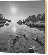 Sand Harbor Star Wood Print