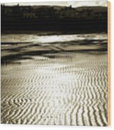 Sand Patterns. Wood Print