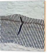 Sandfence Wood Print