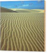 Sandy Desert Wood Print by MotHaiBaPhoto Prints