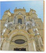 Santa Cruz Monastery Facade Wood Print