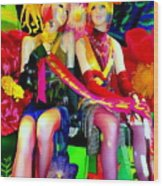 Sassy Sisters Wood Print