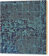 Satellite View Of Oklahoma City Wood Print