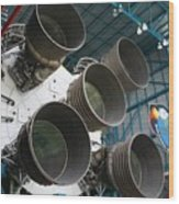Saturn V Rocket Wood Print