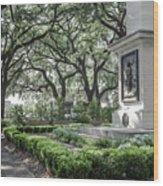 Historic Wright Square - Downtown Savannah Georgia Wood Print