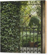 Savannah Gate Wood Print