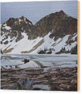 Sawtooth Lake Wood Print