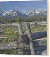 Sawtooth Range Wood Print