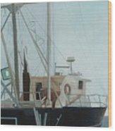 Scallop Boat Wood Print