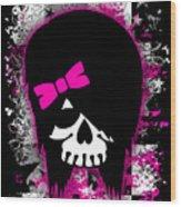 Scene Kid Girl Skull Wood Print