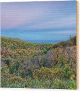 Scenic Blue Ridge Parkway Appalachians Smoky Mountains Autumn La Wood Print