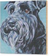 Schnauzer Wood Print by Lee Ann Shepard