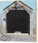 Schofield Ford Covered Bridge Wood Print