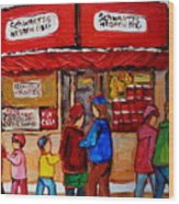 Schwartz's Hebrew Deli Wood Print