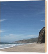 Scott Creek Beach California Usa Wood Print