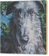 Scottish Deerhound Wood Print