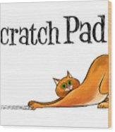 Scratchy Cat Wood Print