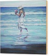 Sea Walk Wood Print