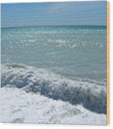 Sea Waves In Italy Wood Print
