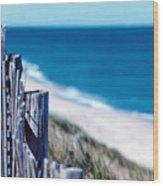 Seafence Wood Print