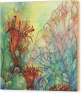 Seaflowers II Wood Print