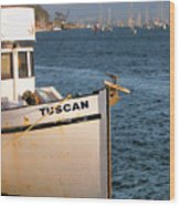 Seagull Morro Bay California Wood Print