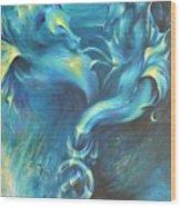 Seahorses In Love 3 Wood Print