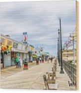 Seaside Boardwalk Wood Print